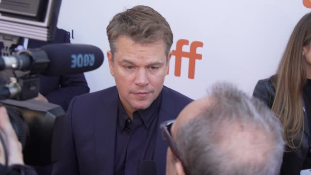 matt damon at roy thomson hall on september 09 2019 in toronto canada - matt damon stock videos and b-roll footage