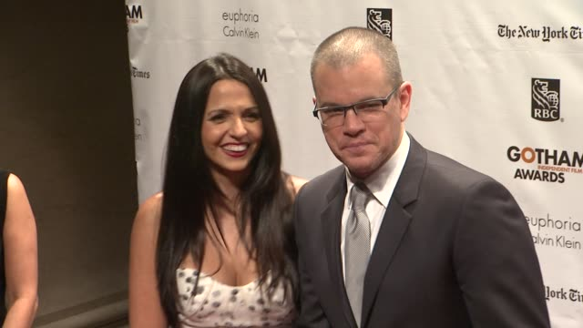 Matt Damon at The 22nd Annual Gotham Independent Film Awards at Cipriani Wall Street on November 26 2012 in New York New York
