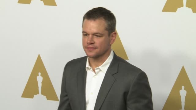 matt damon at the 88th annual oscars® nominees luncheon at the beverly hilton hotel on february 08 2016 in beverly hills california - matt damon stock videos and b-roll footage