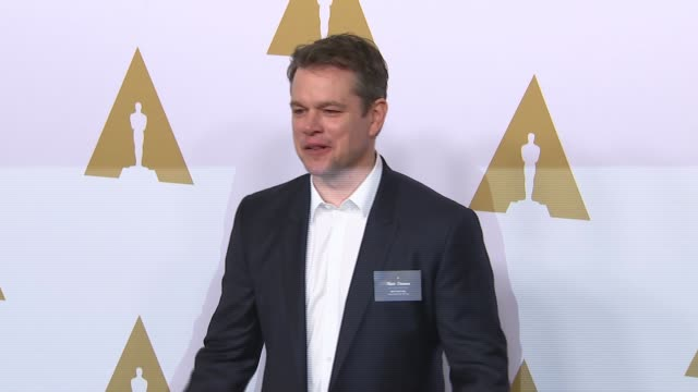 matt damon at the 89th annual academy awards nominee luncheon at the beverly hilton hotel on february 06 2017 in beverly hills california - matt damon stock videos and b-roll footage