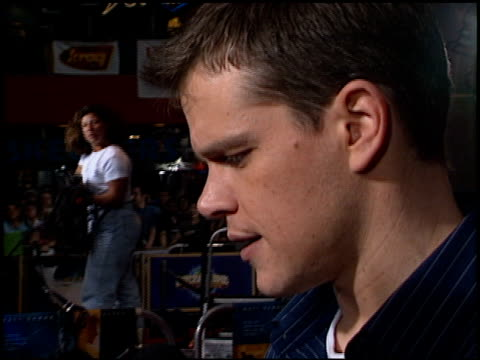 matt damon at the 'bourne identity' premiere at universal studios in universal city california on june 6 2002 - matt damon stock videos and b-roll footage