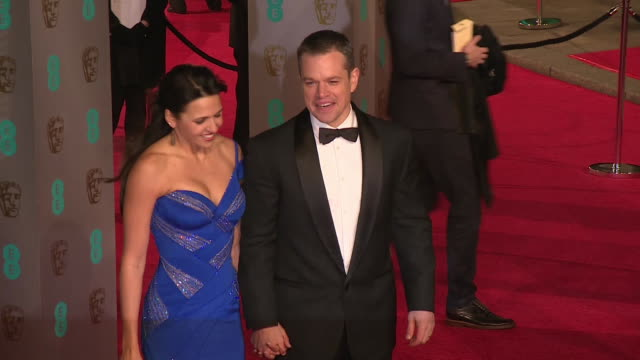 Matt Damon at The EE British Academy Film Awards at The Royal Opera House on February 14 2016 in London England