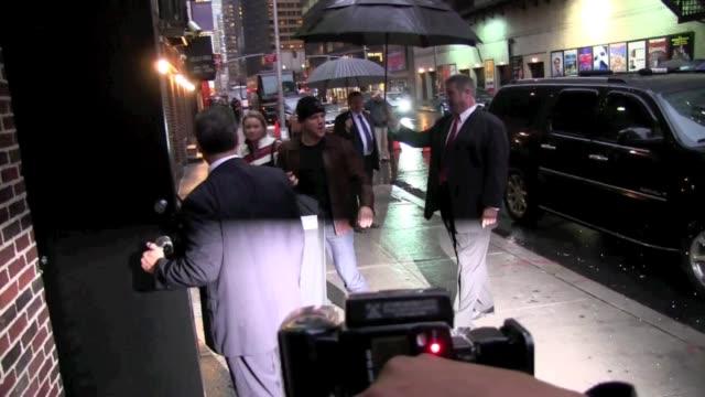 Matt Damon at 'The Late Show with David Letterman' studio in New York on 12/6/2011