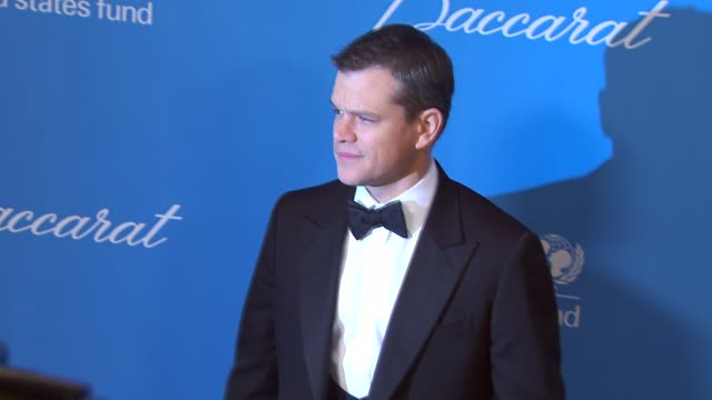 Matt Damon at the UNICEF Ball Honoring Jerry Weintraub at Beverly Hills CA