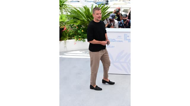 """matt damon attends """"stillwater"""" photocall during the 74th annual cannes film festival on july 09, 2021 in cannes, france. - photo call stock videos & royalty-free footage"""