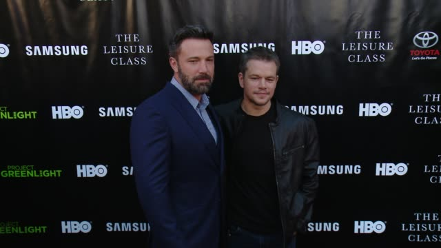 clean matt damon ben affleck adaptive studios and hbo present the project greenlight season 4 winning film the leisure class at the theatre at ace... - matt damon stock videos and b-roll footage