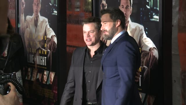 matt damon ben affleck at live by night los angeles premiere in los angeles ca - matt damon stock videos and b-roll footage