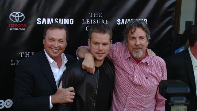 Matt Damon Bobby Farrelly and Peter Farrelly at Matt Damon Ben Affleck Adaptive Studios And HBO Present The Project Greenlight Season 4 Winning Film...