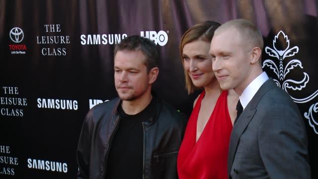 Matt Damon Brenda Strong and Jason Mann at Matt Damon Ben Affleck Adaptive Studios And HBO Present The Project Greenlight Season 4 Winning Film The...