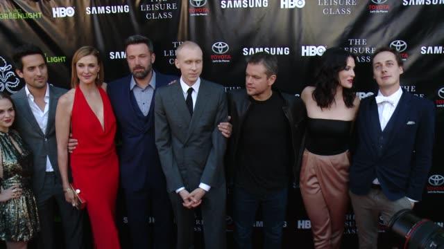 Matt Damon Brenda Strong Ben Affleck Christine Lakin Bridget Regan Melanie Zanetti Tom Bell and Jason Mann at Matt Damon Ben Affleck Adaptive Studios...