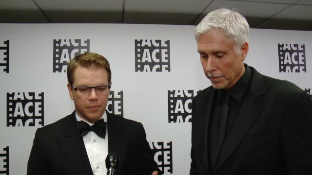 INTERVIEW Matt Damon Christopher Rouse on the event at 65th Annual ACE Eddie Awards in Los Angeles CA