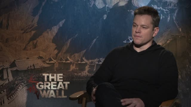matt damon fights monsters and discovers a new culture in the chinese fantasy blockbuster the great wall - matt damon stock videos and b-roll footage
