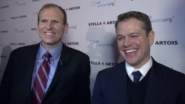 CHYRON –Matt Damon Gary White Stella Artois and Waterorg Host Panel Discussion at World Economic Forum at Steigenberger Grandhotel Belvédère on...