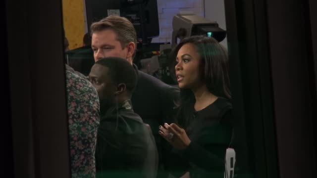 matt damon kevin hart and regina hall on the good morning america show set in celebrity sightings in new york - matt damon stock videos and b-roll footage