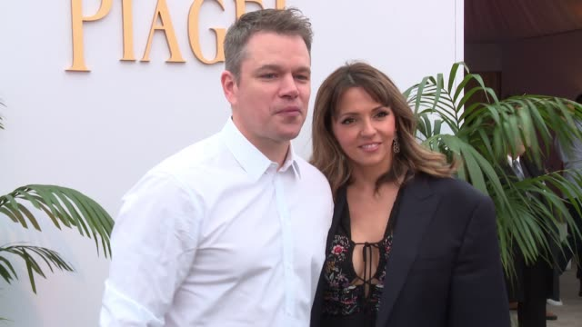matt damon luciana damon at piaget at the 2017 film independent spirit awards in los angeles ca - matt damon stock videos and b-roll footage