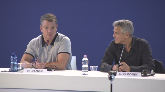 INTERVIEW Matt Damon on not being able to predict the current race riots in the United States the timing of the film at 'Suburbicon' Press Conference...