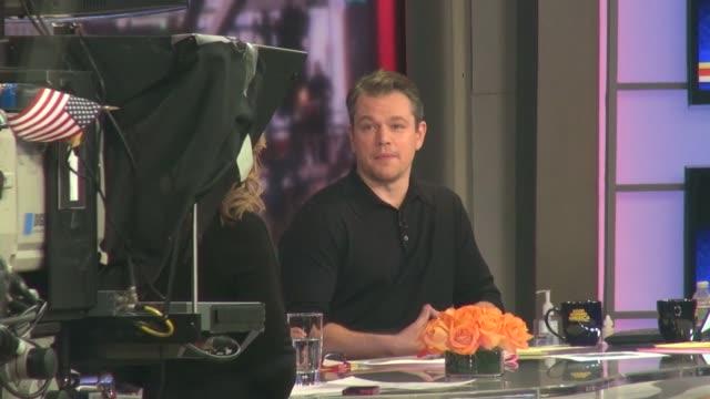 Matt Damon on the Good Morning America show set in Celebrity Sightings in New York