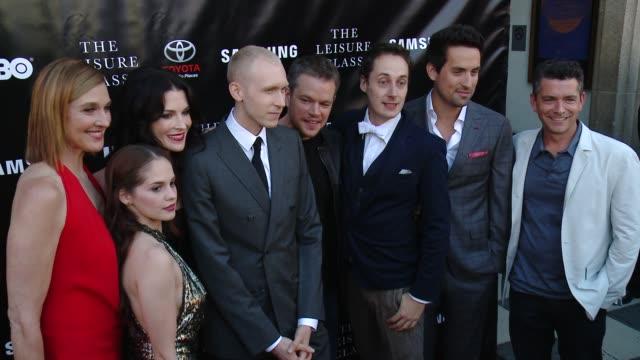 Matt Damon Tom Bell Bridget Regan Melanie Zanetti Jason Mann Ed Weeks Brenda Strong and Marc Joubert at Matt Damon Ben Affleck Adaptive Studios And...
