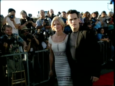 matt dillon and cameron diaz on the red carpet at the 1998 mtv movie awards - cameron diaz stock videos & royalty-free footage