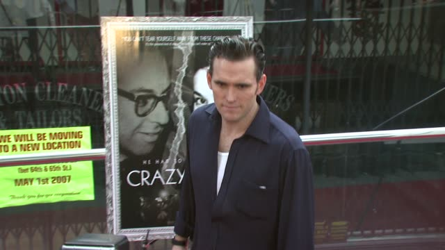 matt dillon at the new york premiere of the award-winning documentary 'crazy love' at the beekman 1&2 theater in new york, new york on may 22, 2007. - ドキュメンタリー映画点の映像素材/bロール
