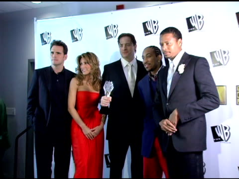 matt dillon jennifer esposito brendan fraser chris ' ludacris ' bridges and terrence howard at the 2006 critics' choice awards press room at santa... - ludacris stock videos & royalty-free footage