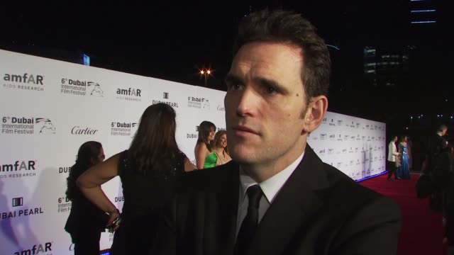 Matt Dillon on his involvement with amfAR the first time he went to an amfAR event and on whether he gets stage fright being up onstage auctioning...
