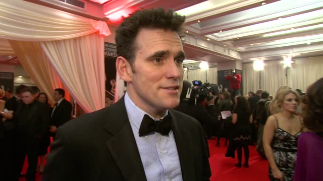matt dillon on what he's doing at the ceremony on how he doesn't know much about his category but is happy to highlight the newcomers at the irish... - television awards stock videos & royalty-free footage