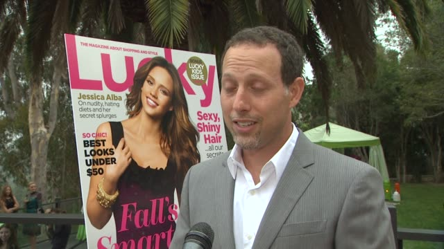 matt edelman on thenextcom on the purpose of the website on partnering with lucky magazine on jessica alba and her style at the lucky's september... - pacific palisades stock videos & royalty-free footage