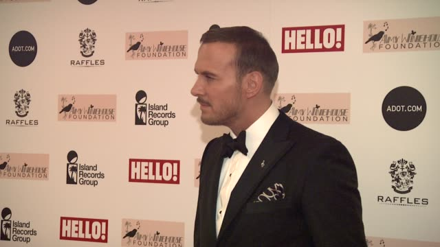 matt goss at amy winehouse foundation ball arrivals at dorchester hotel on november 20, 2012 in london, england. - dorchester hotel stock videos & royalty-free footage