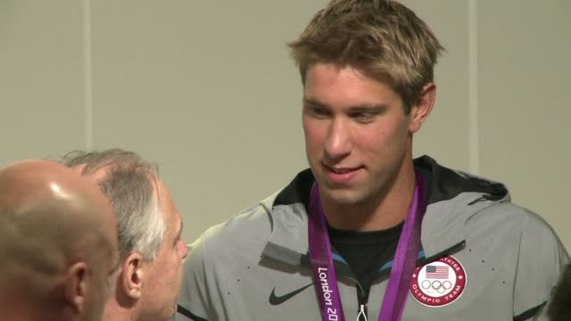 matt grevers led a us one-two finish in the men's 100m backstroke on monday, capturing gold in an olympic record of 52.16sec. london, united kingdom. - backstroke stock videos & royalty-free footage