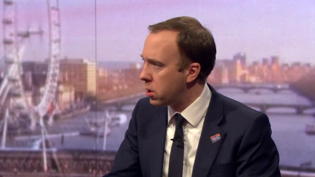 vidéos et rushes de matt hancock health secretary speaking on andrew marr about harmful content on social media says if we think they need to do things they are refusing... - suicide
