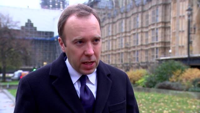 matt hancock interview; england: london: westminster: ext matt hancock interview sot part 1 of 2. - on dementia and gp home visits, brexit, boris... - dementia stock videos & royalty-free footage