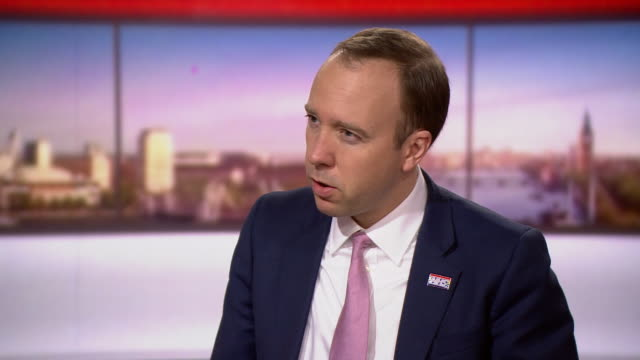 matt hancock on marr government has protected the nhs during coronavirus crisis and will continue to protect it in the future - the way forward stock videos & royalty-free footage