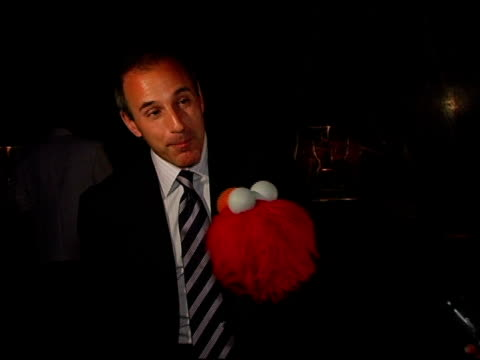 matt lauer and elmo at the sesame workshop's 4th annual benefit gala hosted by matt lauer and elmo at cipriani 42nd street in new york, new york on... - matt lauer stock videos & royalty-free footage