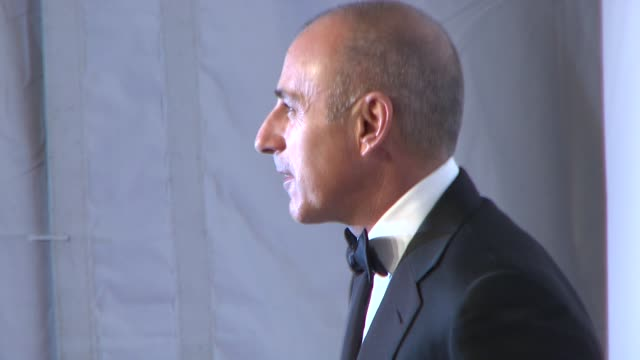 """matt lauer at elton john aids foundation's 12th annual """"an enduring vision"""" benefit on in new york, ny. - matt lauer stock videos & royalty-free footage"""