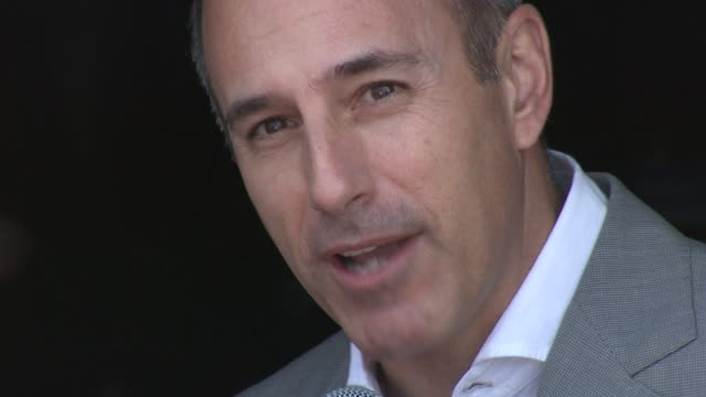 matt lauer at opening of the american pavillion in cannes at the american pavilion opening: cannes film festival 2010 at cannes . - matt lauer stock videos & royalty-free footage