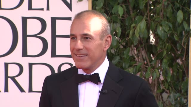 matt lauer at the 70th annual golden globe awards - arrivals in beverly hills, ca, on 1/13/13. - matt lauer stock videos & royalty-free footage
