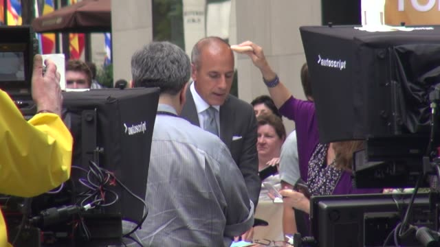 matt lauer at the 'today' show studio in new york, ny, on 8/27/13. - matt lauer stock videos & royalty-free footage