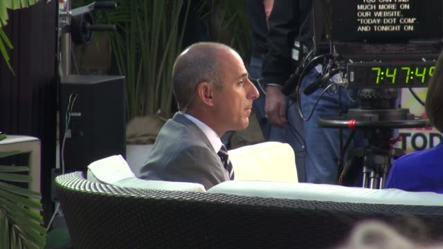 matt lauer at the 'today' show studio in new york, ny, on 9/9/13. - matt lauer stock videos & royalty-free footage
