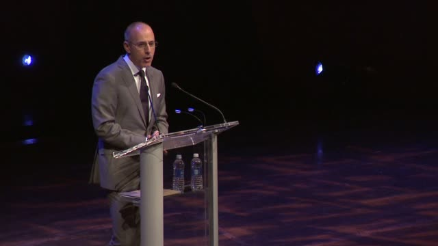 matt lauer on dan brown setting a series of codes to crack before their interview could take place at dan brown at lincoln center: an evening of... - matt lauer stock videos & royalty-free footage