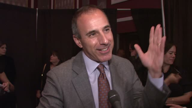 matt lauer talking about how one can never really be prepared for this and how he knows it will be something he'll always have to look back on. at... - matt lauer stock videos & royalty-free footage