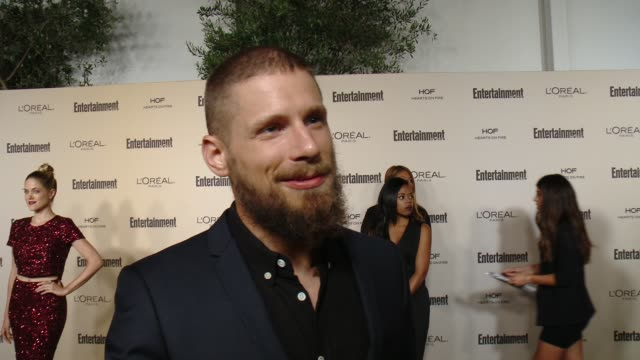 interview matt lauria on favorite television moments from this past season and on what entertainment weekly means to them at entertainment weekly's... - entertainment weekly stock videos and b-roll footage