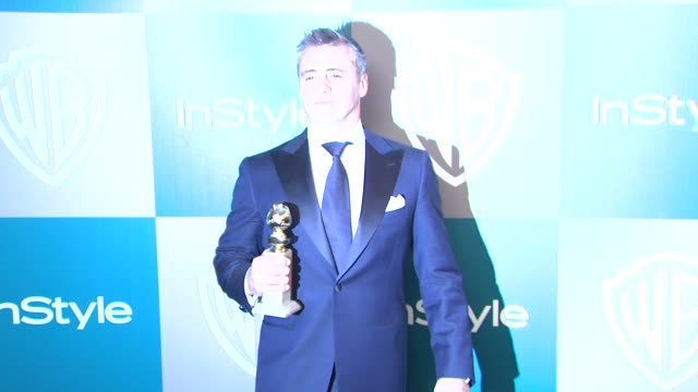 matt leblanc at the 13th annual warner bros and instyle golden globe afterparty at the beverly hilton hotel on 1/15/12 in los angeles ca - matt leblanc stock videos and b-roll footage