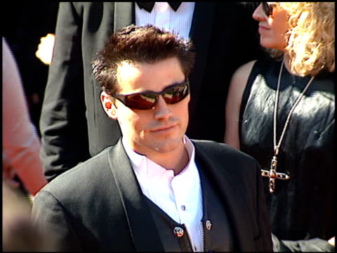 matt leblanc at the 1995 emmy awards arrivals at the pasadena civic auditorium in pasadena california on september 10 1995 - emmy awards stock videos & royalty-free footage