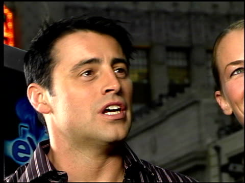 matt leblanc at the 'charlie's angels full throttle' premiere at grauman's chinese theatre in hollywood california on june 18 2003 - matt leblanc stock videos and b-roll footage
