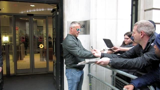 matt leblanc celebrity sightings in london on april 25 2014 in london england - matt leblanc stock videos and b-roll footage