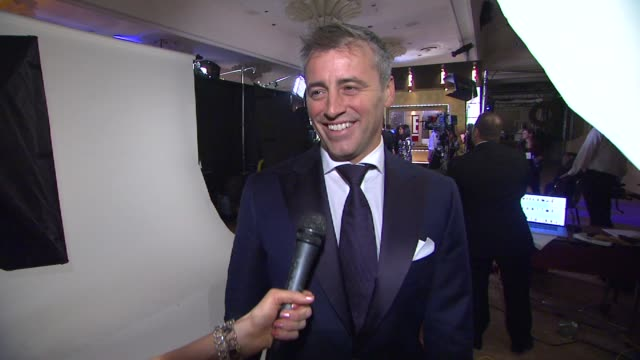 matt leblanc on his series and on his big win at 69th annual golden globe awards backstage portrait studio in beverly hills ca on 1/15/12 - matt leblanc stock videos and b-roll footage