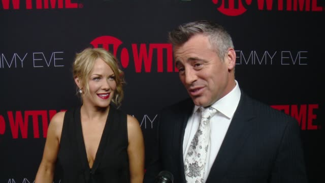 interview matt leblanc on what it would mean to him to take home the emmy what showtime's 24 nominations say about the network at showtime emmys eve... - エミー賞点の映像素材/bロール