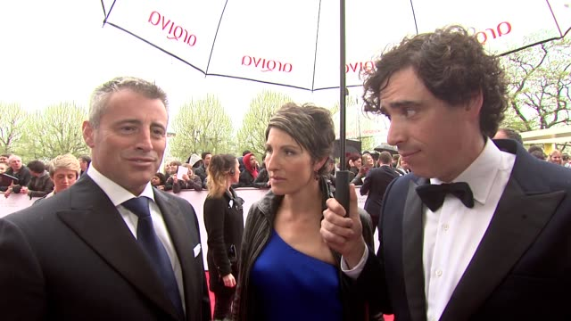 INTERVIEW Matt LeBlanc Tamsin Grieg Stephen Mangan on Friends Reunion at BAFTA TV Awards 2013 5/12/2013 in London UK