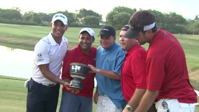 Matt Leinart and winning golf team at the 2nd Annual Amaury Nolasco Friends Golf Classic at Fajardo